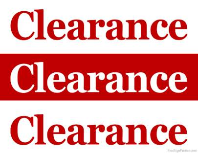 Clearance SUPs